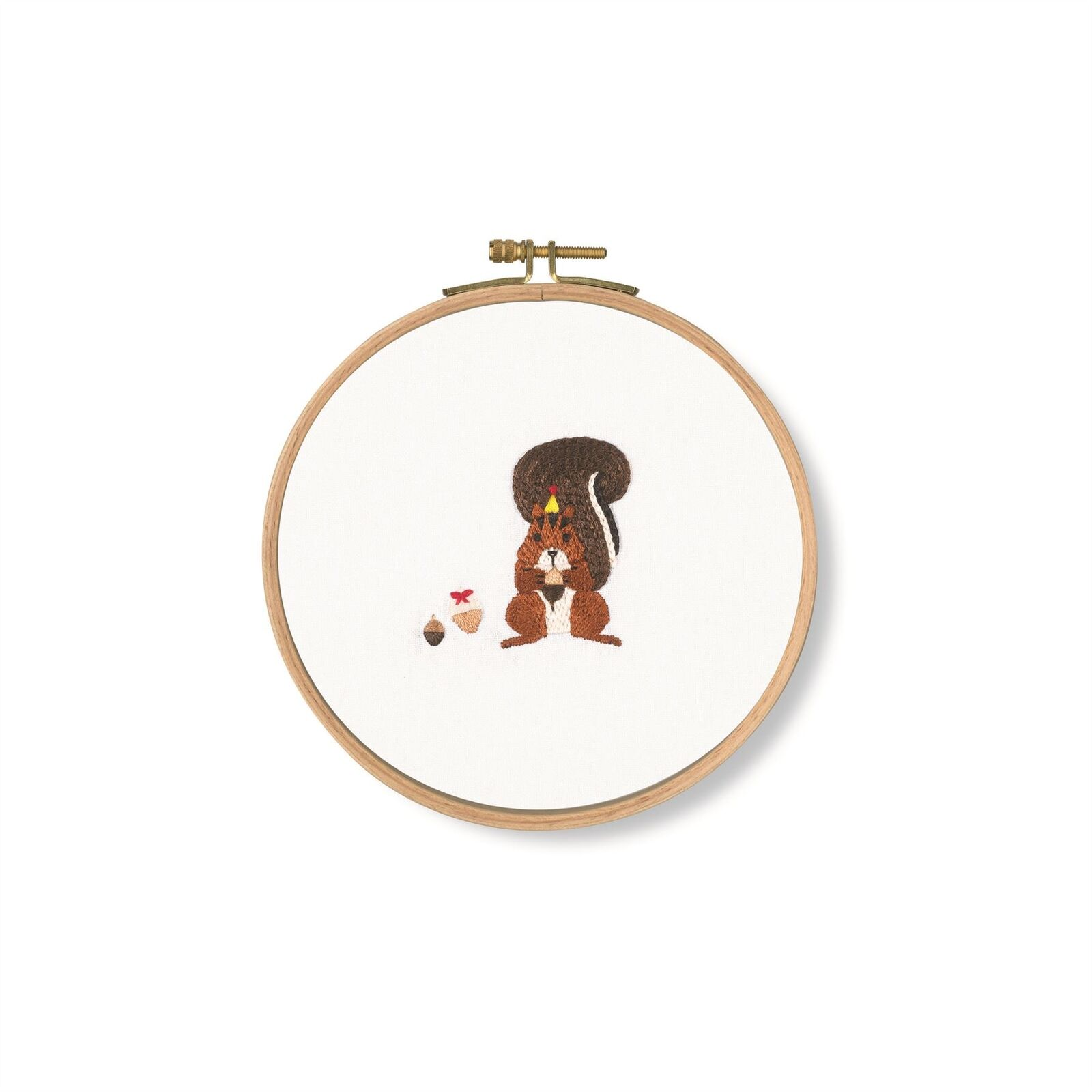 DMC Pets Party Ready to Hang Printed Cross Stitch Kits Squirrel ACORNS