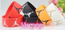 Wholesale 10pcs/lot new SPORT Wristbands Silicone Bracelets Jordan Mix color