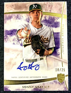 Details About Rare 1825 Topps Supreme Sonny Gray 2014 Baseball Auto Autograph Signed Card As