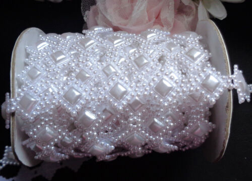 white pearl flatback beads trimming price for 1 yard