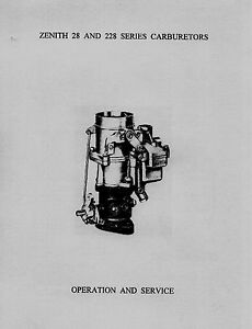Zenith-28-and-228-Series-Carburetor-Service-Instruction