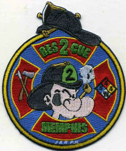 "Memphis  Rescue-2 /""Popeye/"" fire patch 3.5/"" x 4.25/"" size Tennessee"