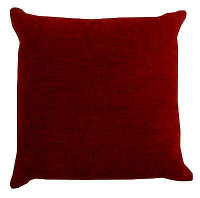 "Luxury Heavyweight Plain Chenille Filled Cushions or Cushion Covers 18x18"""