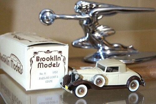 BROOKLIN MODELS 6 1932 1932 1932 PACKARD LIGHT 8 CONgreenIBLE COUPE ROADSTER BEIGE MIB mq 1cc
