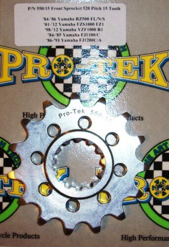 Pro-tek Yamaha Front Sprocket 520 Pitch 14T 15T 16T 17T 2001 2002 2003 YZF-R1 R1