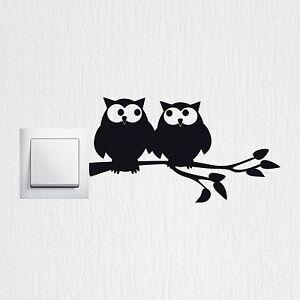 wandtattoo verliebte eulen sch ne lichtschalter wandaufkleber. Black Bedroom Furniture Sets. Home Design Ideas