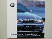 Prospekt BMW 3er E46 Coupe (320Ci,323Ci,328Ci), 1.1999, 22 Seiten, 16x16 cm