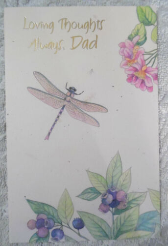 """FD-30 Dad/"""" Happy Father/'s Day Card with Envelope  /""""Loving Thoughts Always"""