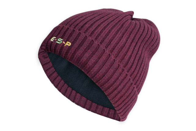 Fleece Lined Olive Maroon ESP New Design Bobble Hats