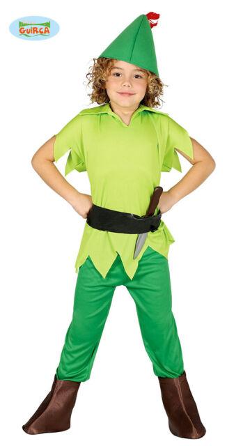 migliore qualità per metà prezzo store Guirca Vestito Peter Pan Bambino 5-6 anni (k7x)