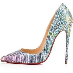 b3c2b6ed6d81 Image is loading Christian-Louboutin-SO-KATE-120-Suede-Unicorn-Pumps-