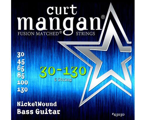 Curt Mangan 30-130 Nickel Wound 6-String Bass Guitar Strings