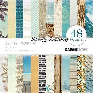 BEACH-SALTY-KISSES-12x12-Scrapbooking-Paper-Pad-48-Sheets-Kaisercraft-New-PP222