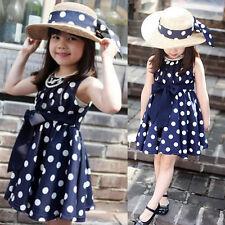 1PC Kids Children Clothing Polka Dot Girl Chiffon Sundress Dress Hottest