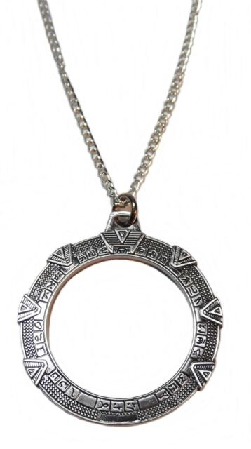 Stargate SG1 TV Series Stargate Antique Silver Toned Necklace Pendant NEW UNUSED