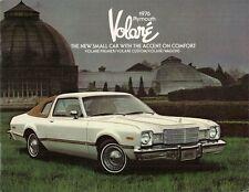 Plymouth Volare 1976 UK & USA Market Sales Brochure Sedan Wagon Coupe