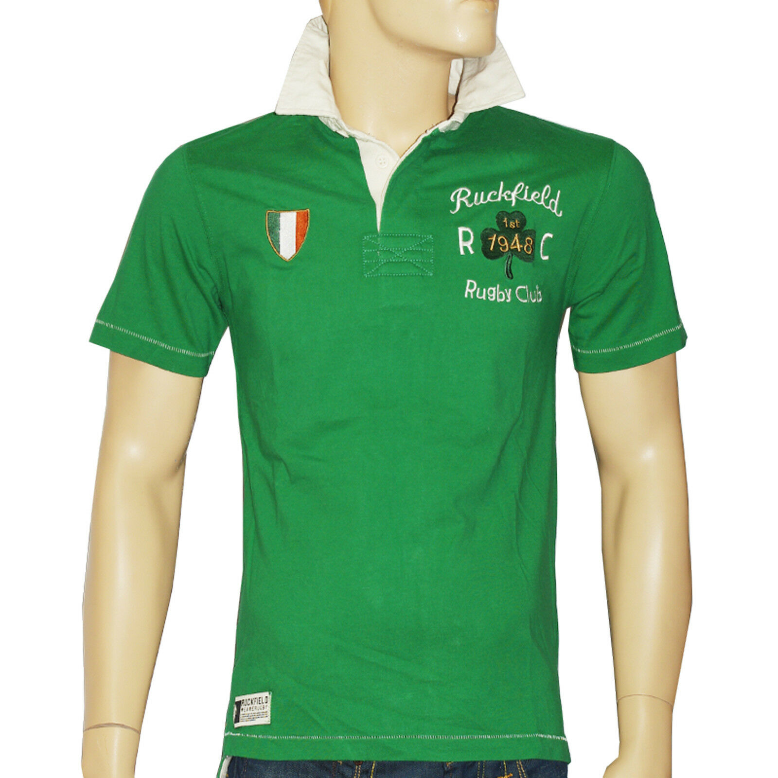 RUCKFIELD CHABAL Polo rugby manches courtes verde  homme Dimensione S