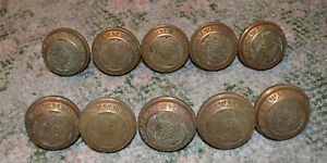 5-Antique-Pairs-East-Lake-Victorian-Solid-Brass-Door-knobs-10-knobs-total