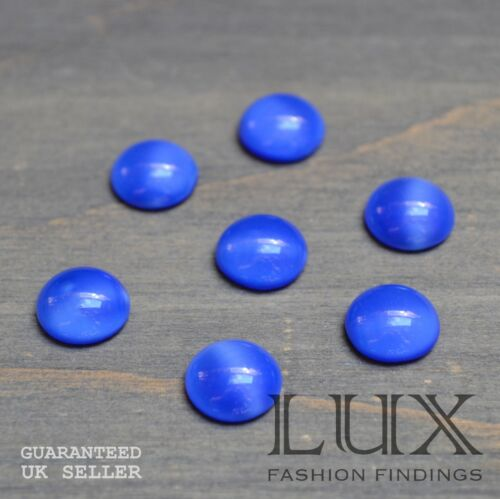 10mm 6mm Imitation Czech Dark Blue Moonstone Round Cabochon Jewellery Making