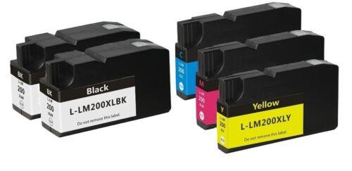 2 Black 3 Color 200XL ink Cartridge for Lexmark OfficeEdge Pro 4000 5500 5500T