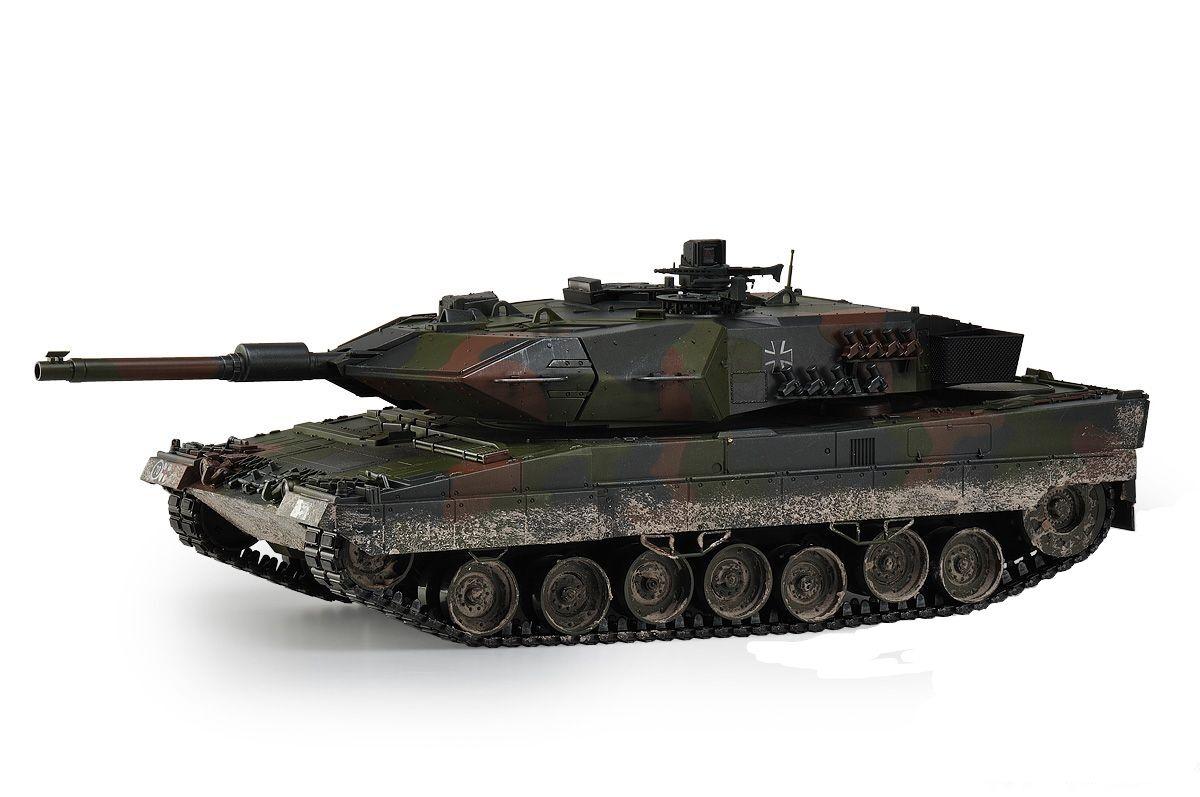 Gran escala a Control Remoto Leopard 2a5 Tanque De Batalla actualizado Premium Label versión-Hobby en