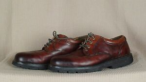 Dockers-Mens-Shelter-Plain-Toe-Lace-Up-Genuine-Leather-Brown-Shoes-Size-12-M