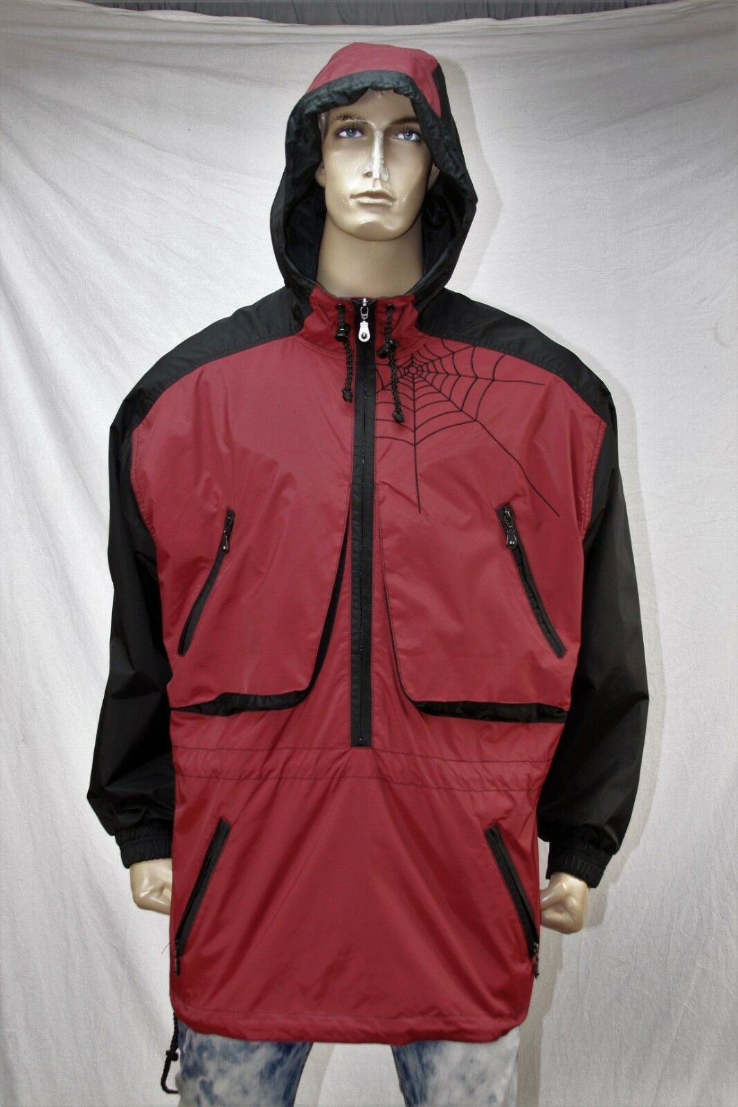 Spider nylon- polyester wind breaker  a Größe US Large or XL. Made in Portugal.