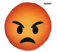 Angry Emoji Plush Pillow USA SELLER 12.6 in x 12.6 in x 3.94 in VHTF