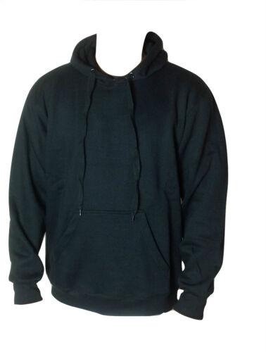 Fleece Plain Hoodie M-5XL Sweatshirt Hooded Pull Over Casual Gym Adult Top Hoody