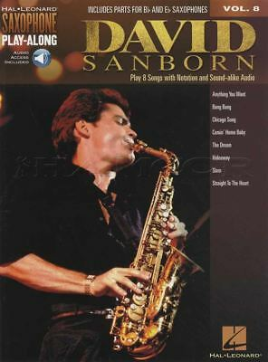 Contemporary David Sanborn Saxophone Play-along Sheet Music Book/audio Alto Tenor Bb Eb Evident Effect