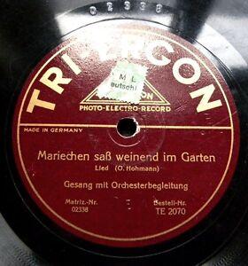 0428-MARIECHEN-SAss-WEINEND-IM-GARTEN-Muede-kehrt-ein-Wandersmann-zurueck-Schellack