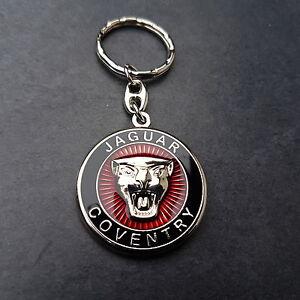 Jaguar-Schlusselanhanger-Coventry-Keyring-XJ-XF-XK-MK-X-E-F-R-E-Type-3-D-Emblem