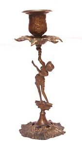 Indian-Old-Vintage-Hand-Carved-Brass-Lady-With-Flower-Candle-Light-Stand-Br-489