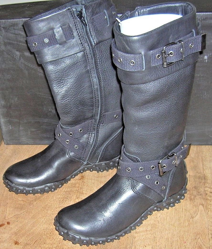 NO NAME Aqua army hi boots black straps black VAL 180E NEW Sizes 39,40