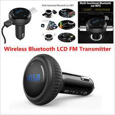 12V Car Kit MP3 Music Player Wireless Bluetooth FM Transmitter Radio 2 USB LCD