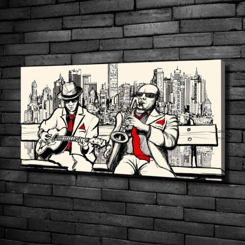 Leinwandbild Kunst-Druck 100x50 Bilder New York Jazz