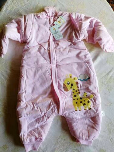 Winterschlafsack Baby Kind Schlafsack Schlafanzug 100/% BAUMWOLLE