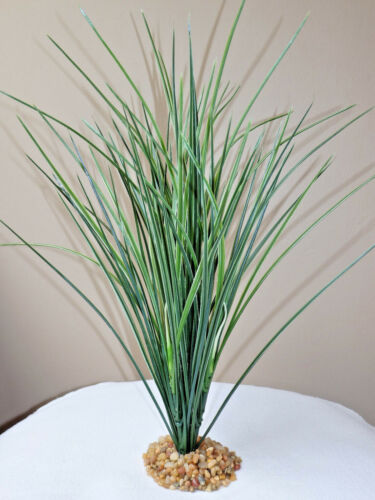 """color options Artificial Aquarium PLANT w// STONE BASE XL 17"""" Tall SPIKE WEED"""