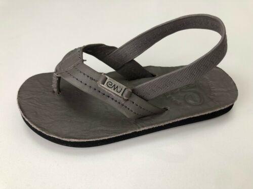 EMU Australia Shorem Grey Leather Sandal with back strap