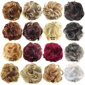 Pony-Tail-femmes-elegantes-clipser-sur-l-039-extension-Chignon-postiche-Scrunchie