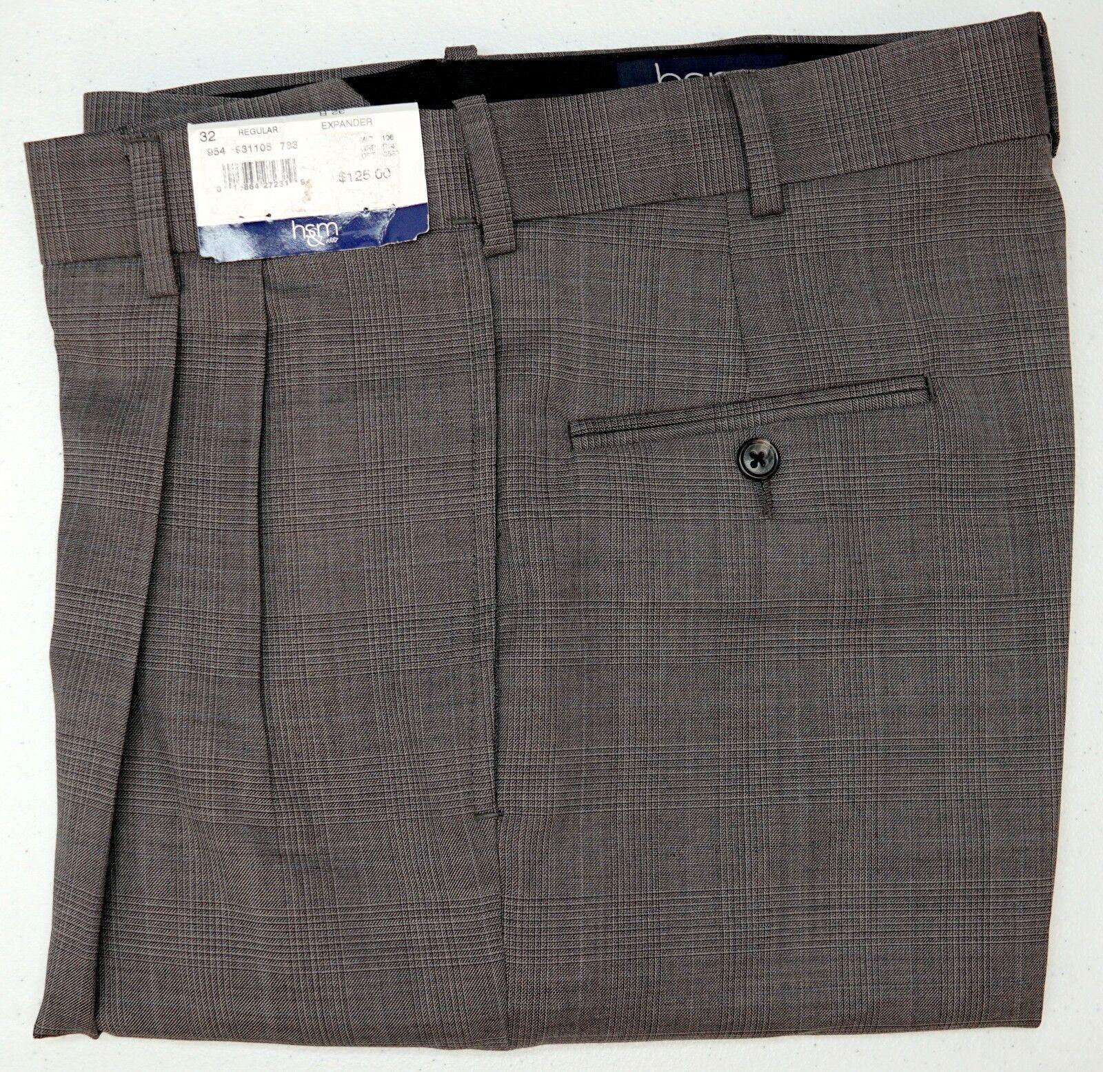 NWT  Hart Schaffner Marx Dress Pants Expander Mens Size 32R 33R 34R NEW