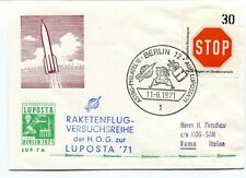 1971 Raketenflug Versuscsreihe Luposta Astro Philatelie Berlin Holland SPACE