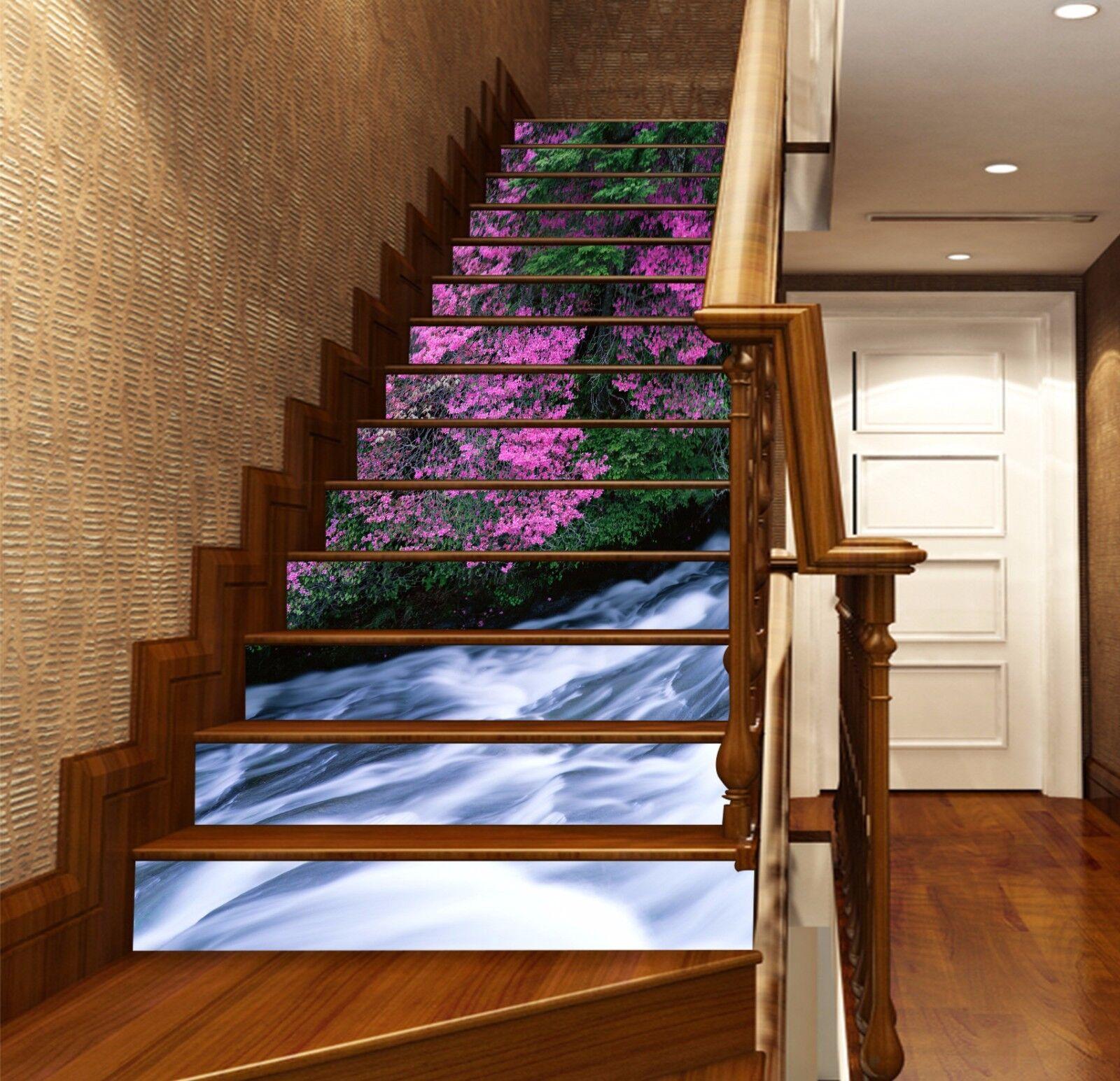 3D Waterfall Flower 4634 Risers Decoration Photo Mural Vinyl Decal Wallpaper CA
