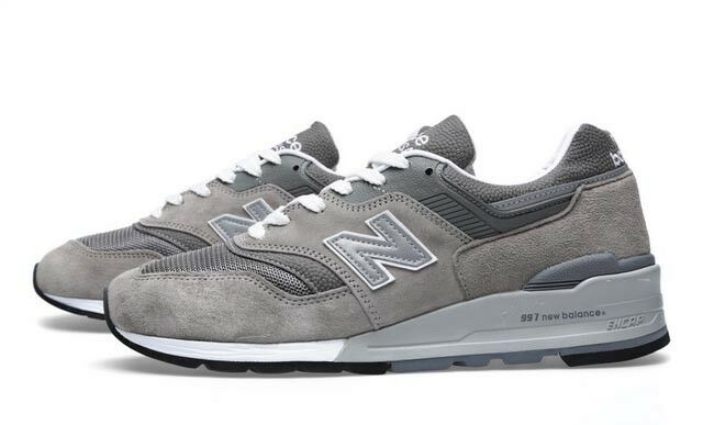 NEW BALANCE SHOES STYLE M997GY COLOR GREY MADE IN THE USA SIZE 9