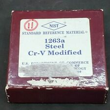 Nist Standard Reference Material 1263a Low Alloy Steel Cr V Modified