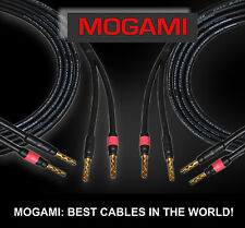 2 Units Mogami 3082 Superflexible Coaxial Audiophile Speaker Cable  - 8 Ft