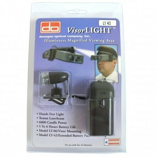 Donegan Optivisor luz para Optivisor Diademas LT42 Visera Luz-HH481