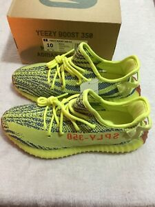 Details about *NEW* Adidas YEEZY BOOST 350 V2 Semi Frozen Yellow B37572 100% Authentic Sz 8.5