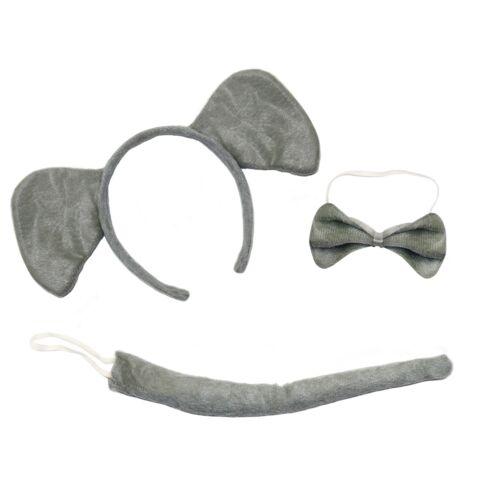 Cute Elephant 3-Piece Book Week Fancy Dress Sets Ears Headband, Tail /& Bow Tie
