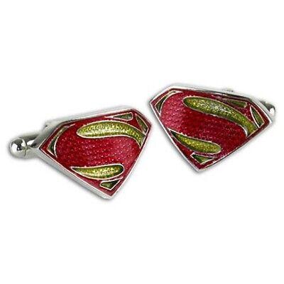 Ufficiale Superman Man Of Steel Colorato Logo Gemelli Da Uomo - Matrimonio